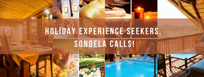 Holiday Experience Seekers, Sondela Calls!