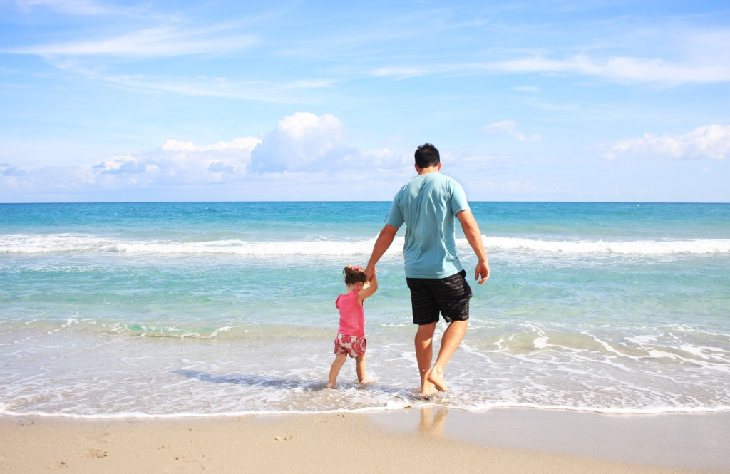 Family Bonds - Dad and daughter at the beach